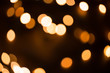 Defocused gold abstract Christmas Glitter Lights bokeh Background