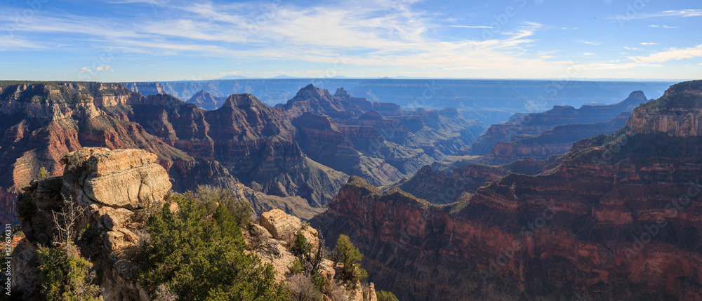 Beautiful Landscape of Grand Canyon from North Rim, Arizona, Uni