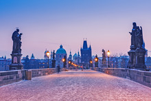 Charles Bridge, Prague, Sunris...