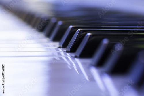 Zdjęcie XXL Makro makro klawiszy fortepianu
