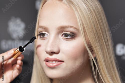 Poster  makeup eyelashes and eyes,