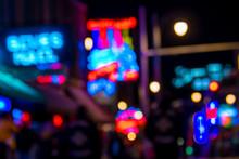 Blur Shot Of Beale Street