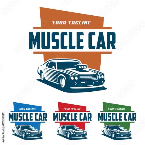 Muscle Car Logo Retro Logo Style Vintage Logo Buy This Stock
