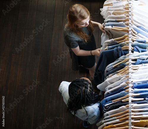 Clothes Shop Costume Dress Fashion Store Style Concept Wall mural