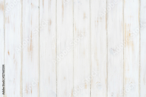 Poster Bois white wood texture background