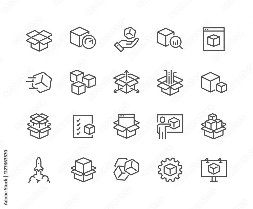 Fototapety, obrazy: Line Abstract Product Icons
