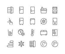 Line Fridge Icons