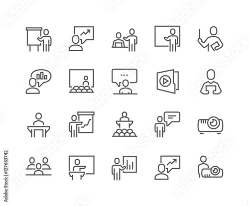 Foto  Line Business Presentation Icons