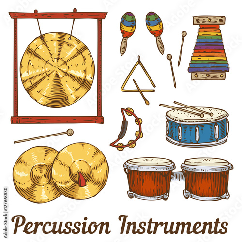 Percussion Musical Instruments - Buy this stock vector and
