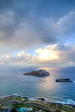 View Of Beautiful South Shore Of Oahu, Just Outside Honolulu