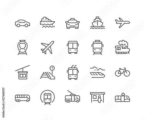 Fényképezés  Line Public Transport Icons