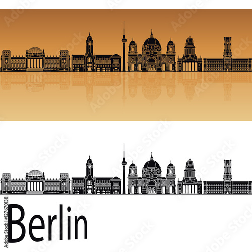Photo  Berlin V2 skyline orange