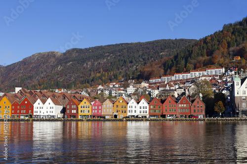 Poster Scandinavie Bergen Bryggen Norwegen