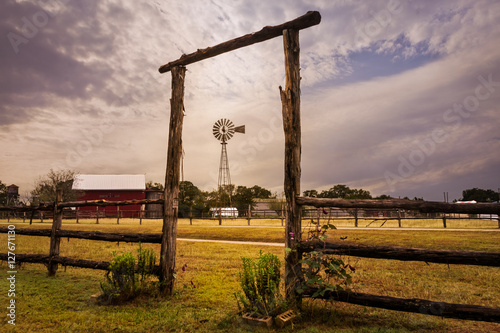 Canvas Prints Texas Windmill at the Ranch