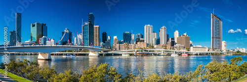 BRISBANE, AUSTRALIA, SEPT 13 2016:View of Brisbane from South Ba