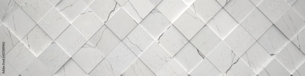 Fototapeta Wide Tiled Marble Backdrop