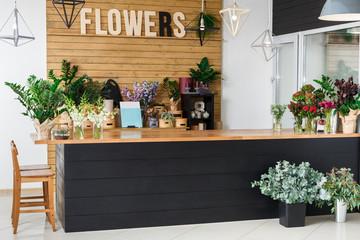Interijer cvjećare, malo poduzeće studija cvjetnog dizajna