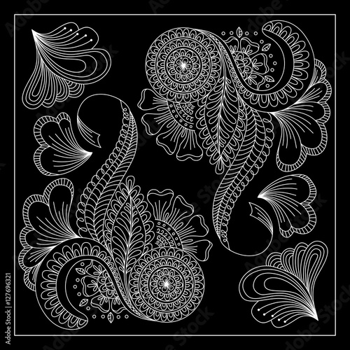 Black And White Abstract Bandana Print