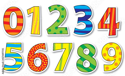 Set of cartoon numbers / vectors illustration for children