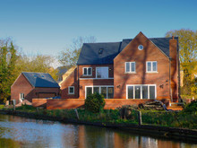 New Build House On Canal Side UK