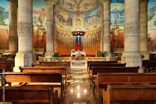 The interior of the Tibidabo church in Barcelona. Wallpaper Mural