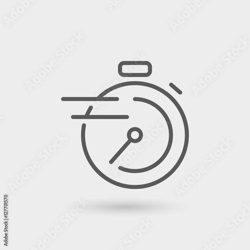 Fotografie, Obraz  fast service thin line icon