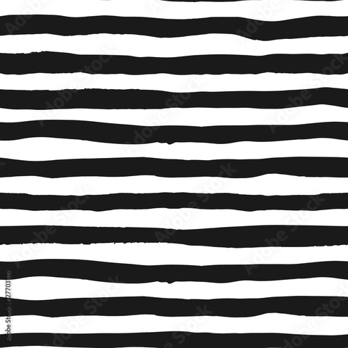 Cotton fabric Grunge seamless pattern of black and white lines, seamless background grunge monochrome stripes, hand drawn vector pattern for textile, wallpaper, web design, wrapping, fabric, paper