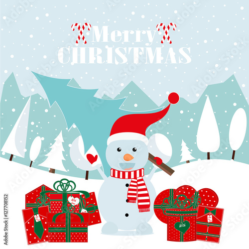 merry christmas and happy new yearhappy new year card2017snowman