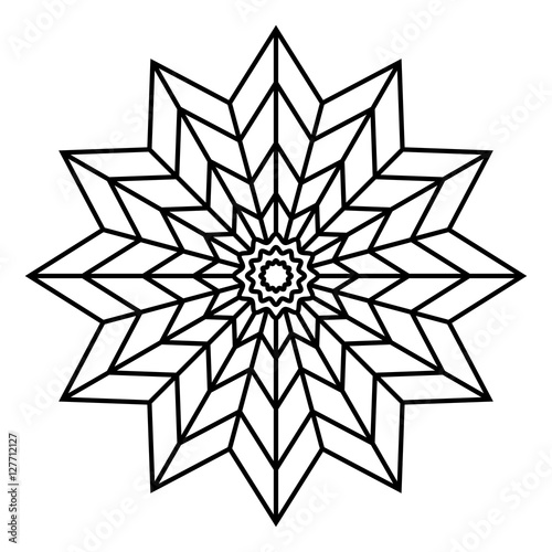 Simple mandala flower design for coloring book pages ...