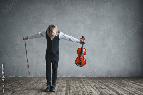 Fotografie, Tablou Children with violin