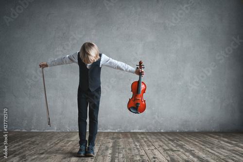 Papel de parede Children with violin