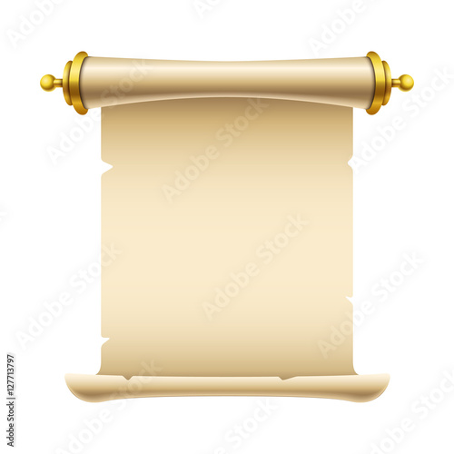 Canvastavla Ancient scroll illustration with place for your text