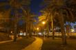 City park at night in Ashdod, Israel