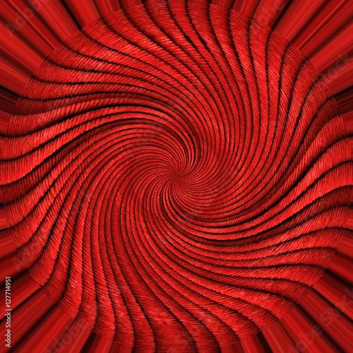 Foto op Canvas Spiraal Frattale rosso con spirale