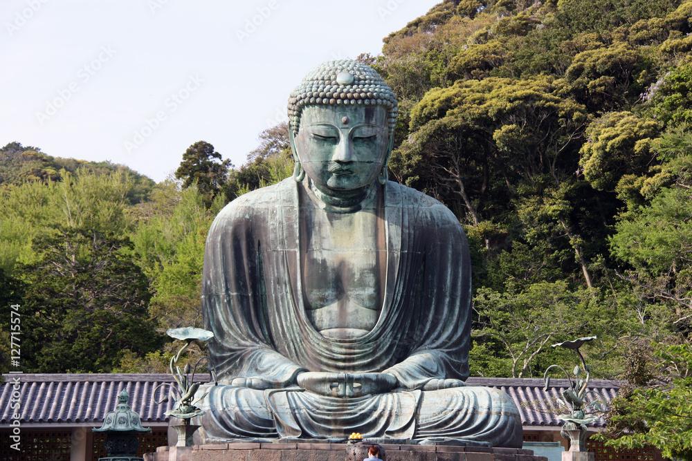 Statue du Grand Bouddha à Kamakura, Japon Fototapeta
