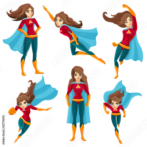 Photo  Superwoman Actions Icon Set