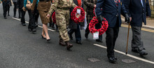 The Remembrance Parade On Remembrance Sunday 2016 In Wales