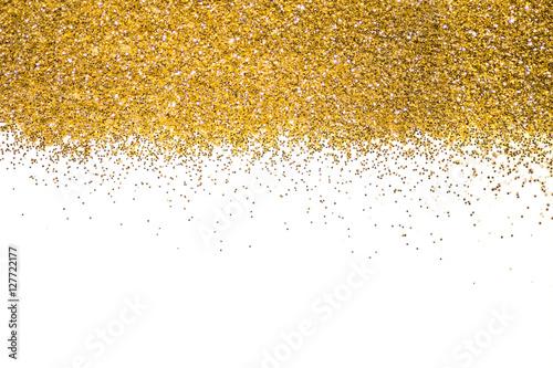 Gold Border Sequins Golden Shine Powder Glitter Shining