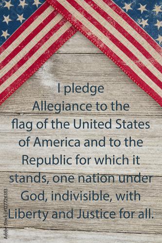 America patriotic message Canvas Print