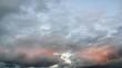 Autumn sunrise. Rapidly changing weather
