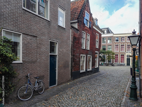 Photo  City view of Amsterdam with bicycles in the Netherlands