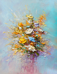 FototapetaOil painting flowers