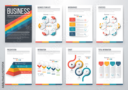 Fototapety, obrazy: Modern infographic vector concept
