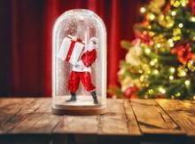 Santa Inside A Christmas Snow ...