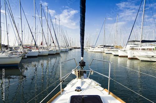 Fotografie, Obraz  Mediterranean marina/Departure from the marina