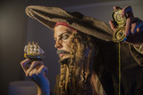 man dressed as pirate Jack Sparrow