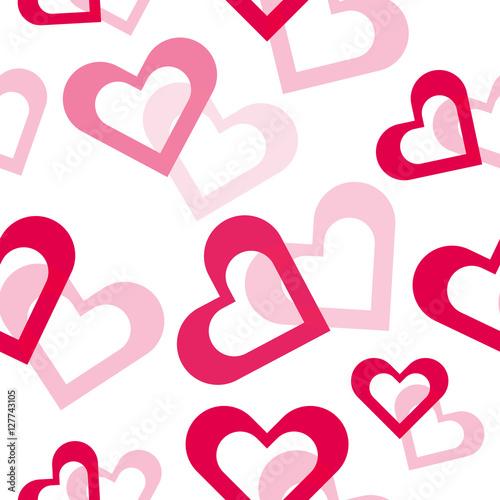 Foto op Aluminium Pixel Valentine hearts