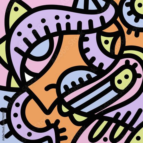 Foto auf Gartenposter Klassische Abstraktion abstract shapes and colors