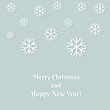 Christmas snowflake greeting card.