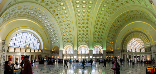 Union Station Architecture Interior Washington DC November 2016 Canvas Print